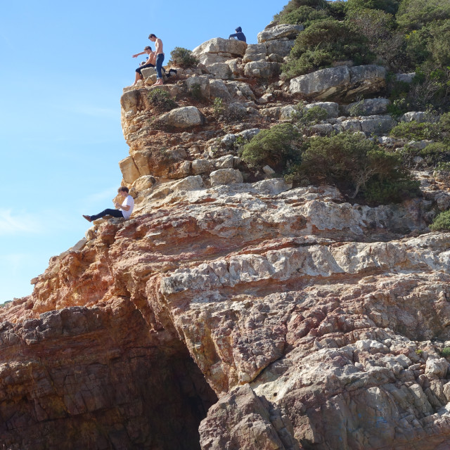 """""""Praia do Zavial beach in the Algarve Portugal"""" stock image"""