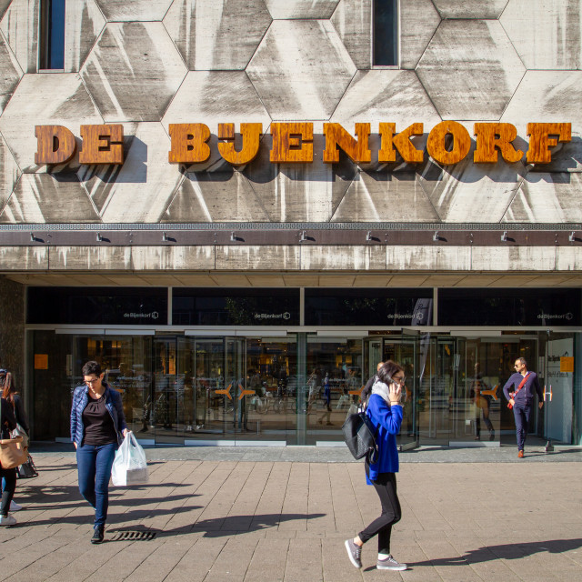 """Shopping at De Bijenkorf"" stock image"