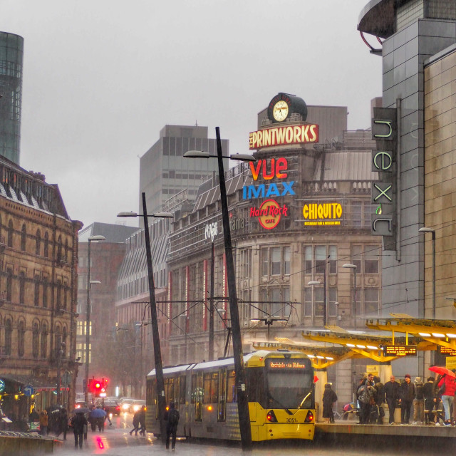 """""""A typical day in Manchester"""" stock image"""