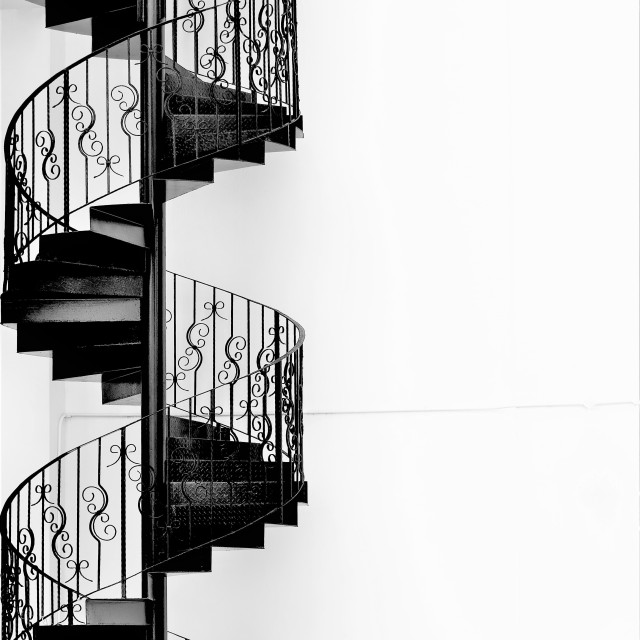 """Iron Spiral Staircase"" stock image"