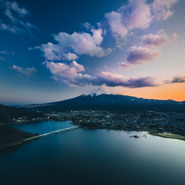 """Mount Fuji from above"" stock image"