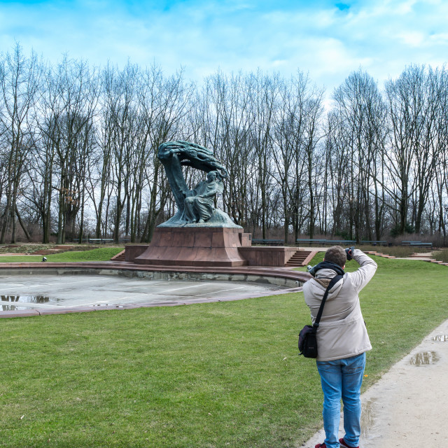 """""""Frederic Chopin monument"""" stock image"""