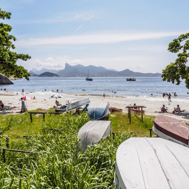 """""""Jurujuba Beach, Niteroi, State of Rio de Janeiro, Brazil"""" stock image"""