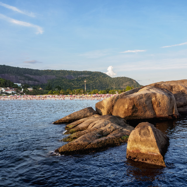 """""""Prainha de Piratininga, beach, Niteroi, State of Rio de Janeiro, Brazil"""" stock image"""