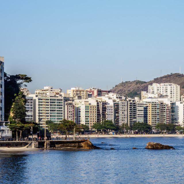 """Icarai Beach and Neighbourhood, Niteroi, State of Rio de Janeiro, Brazil"" stock image"