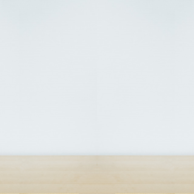 """""""two speakers on a wooden table with copyspace, white background"""" stock image"""