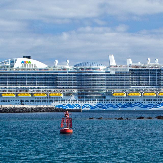 """""""Aida Nova cruise ship, Arrecife, Lanzarote"""" stock image"""