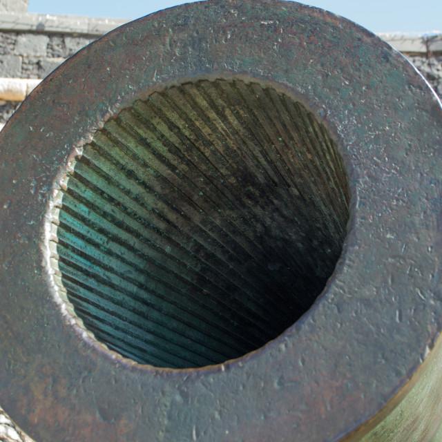 """Cannon rifling, Arrecife"" stock image"