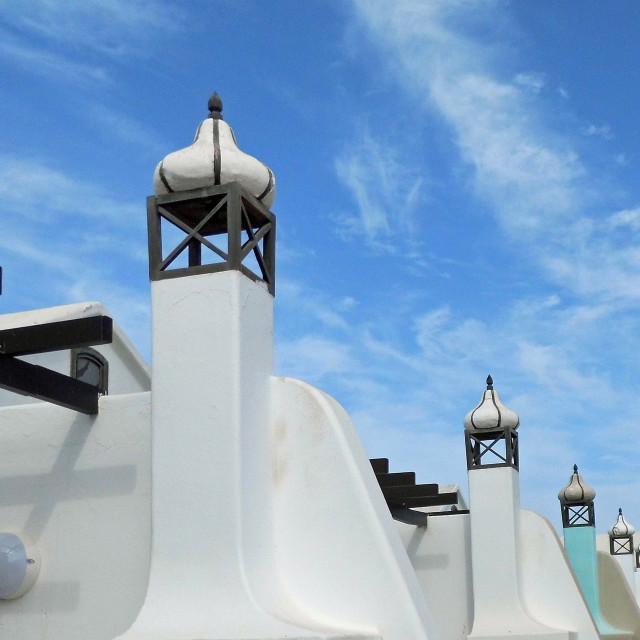 """Chimneys, Lanzarote"" stock image"