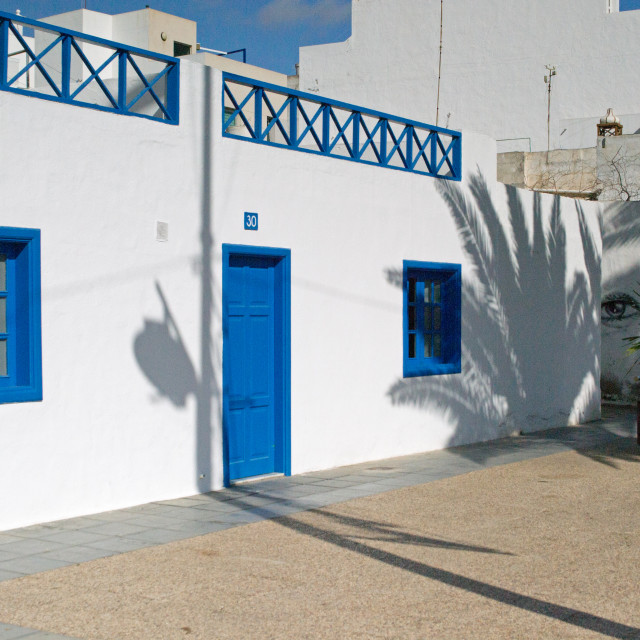 """Neighbourhood Watch, Arrecife, Lanzarote"" stock image"