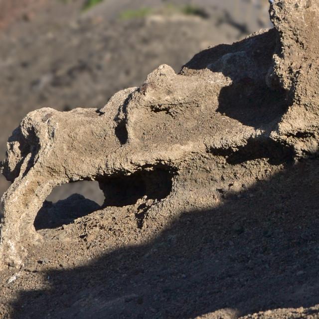 """See-thru rock structure, Lanzarote"" stock image"