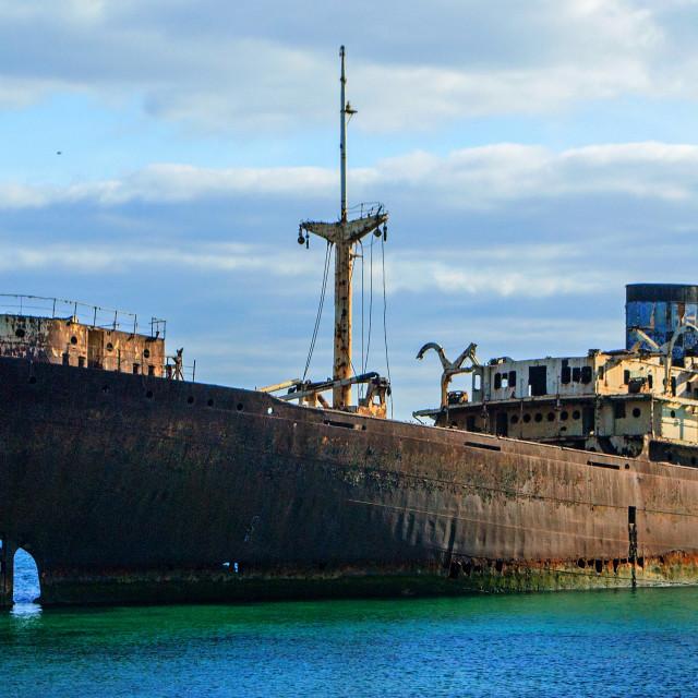 """""""Temple Hall shipwreck, Arrecife, Lanzarote"""" stock image"""