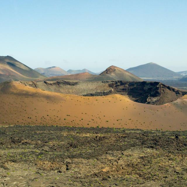 """Valcano, blue sky, Lanzarote"" stock image"