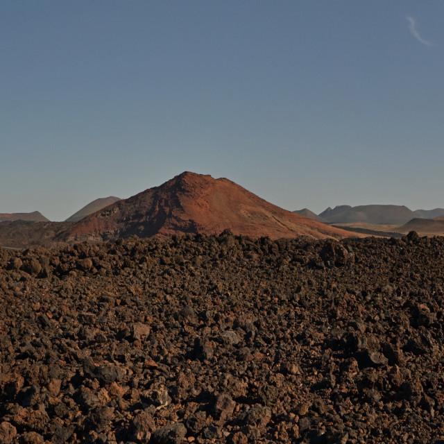 """Volcanic pyroclastic debris, Lanzarote"" stock image"