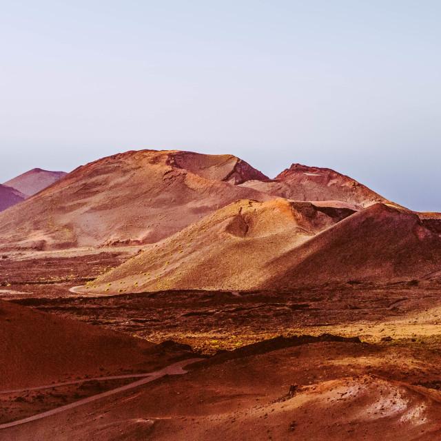 """Volcano HDR image, Lanzarote"" stock image"