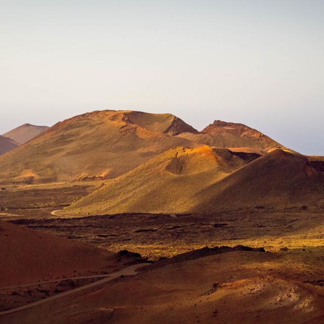 """""""Volcano landscape, Lanzarote"""" stock image"""
