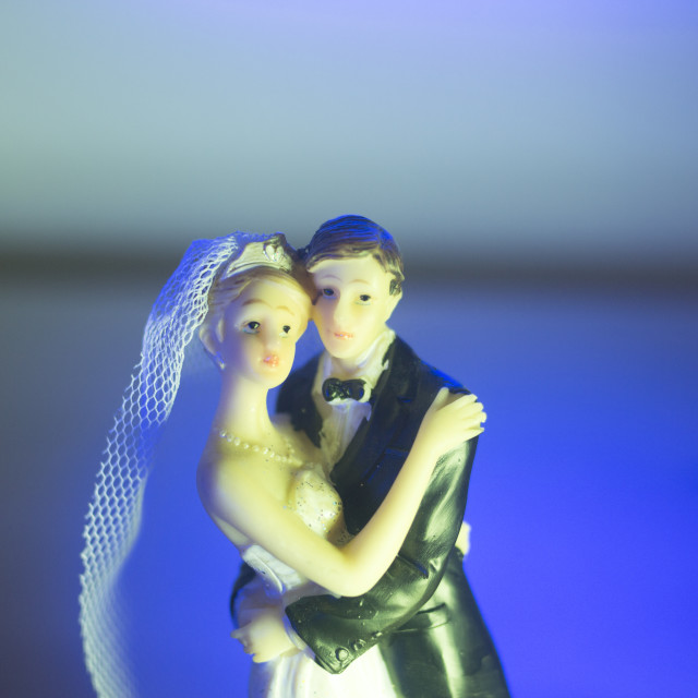"""Wedding couple marriage dolls"" stock image"