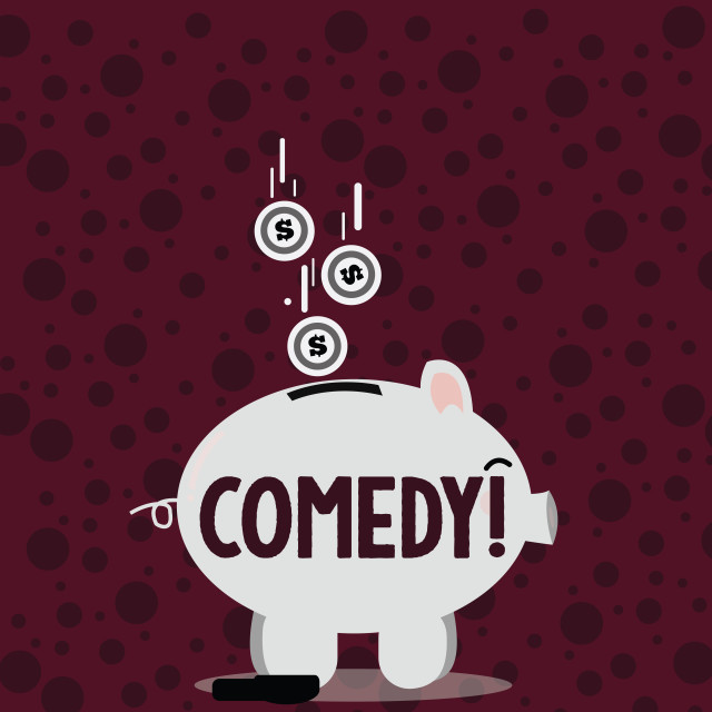 """""""Writing note showing Comedy. Business photo showcasing Fun Humor Satire..."""" stock image"""