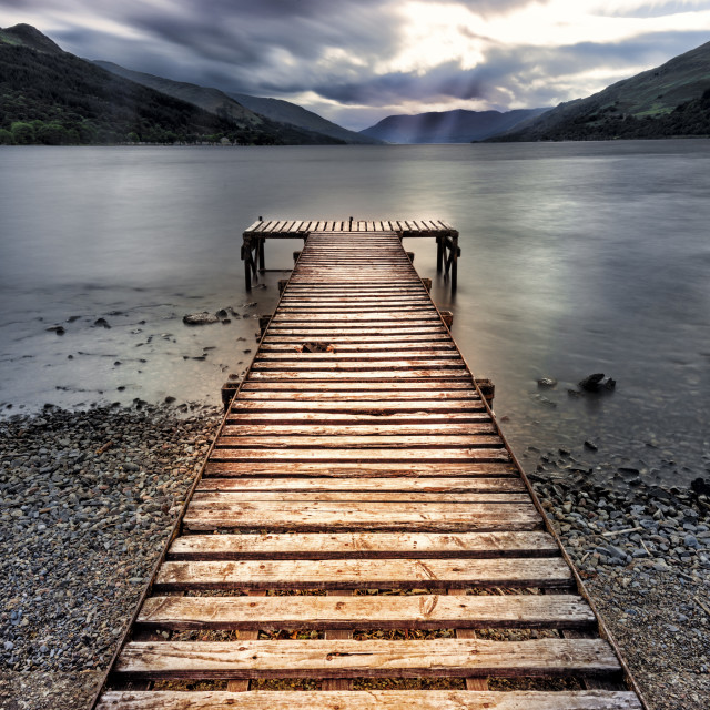 """Loch Earn"" stock image"