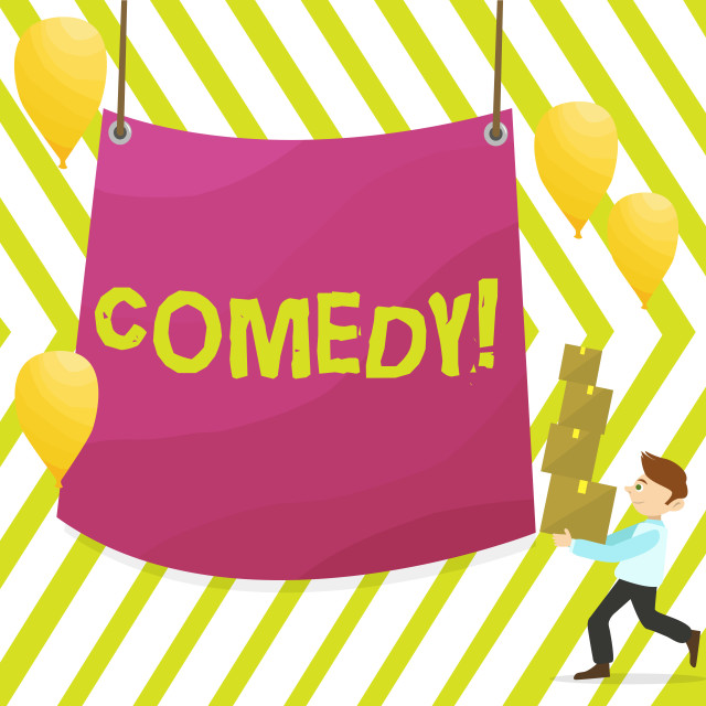 """""""Word writing text Comedy. Business concept for Fun Humor Satire Sitcom..."""" stock image"""