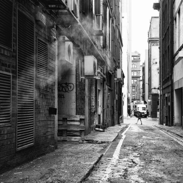 """Street Scene One"" stock image"