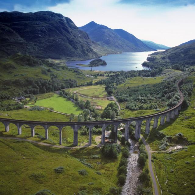 """Harry potter bridge."" stock image"