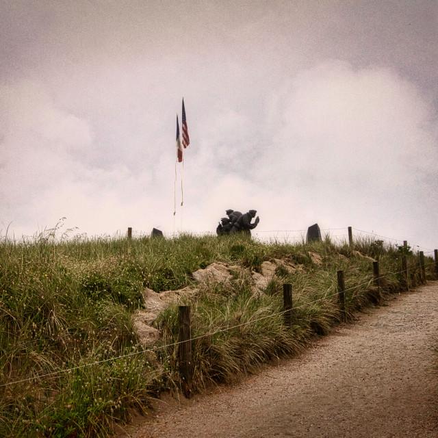 """""""US Navy Memorial at Utah Beach"""" stock image"""