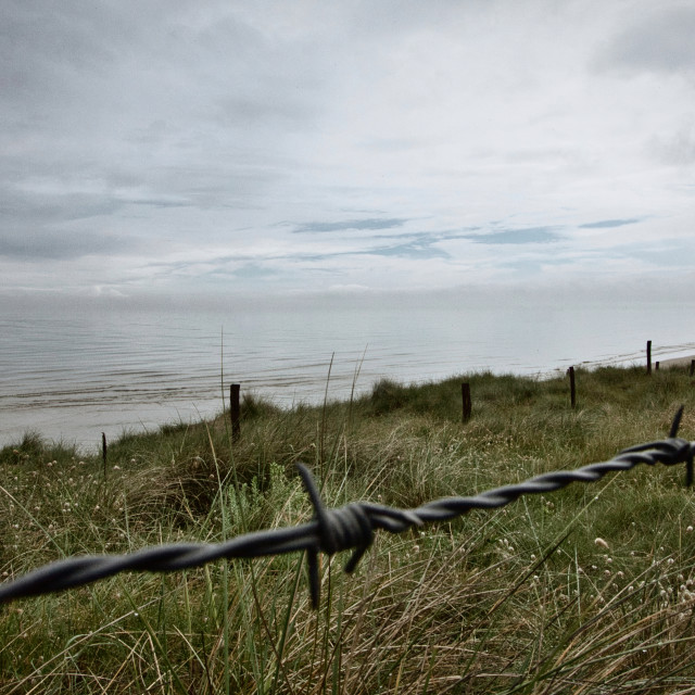 """Barbed Wire Beach"" stock image"