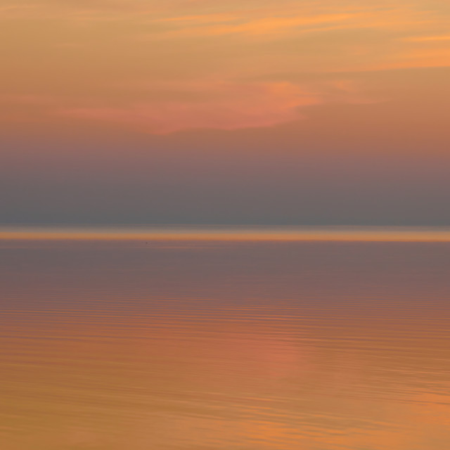 """Beautiful clear background sunset color over the lake"" stock image"