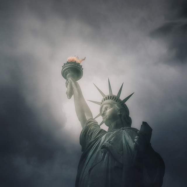 """Moody Liberty"" stock image"