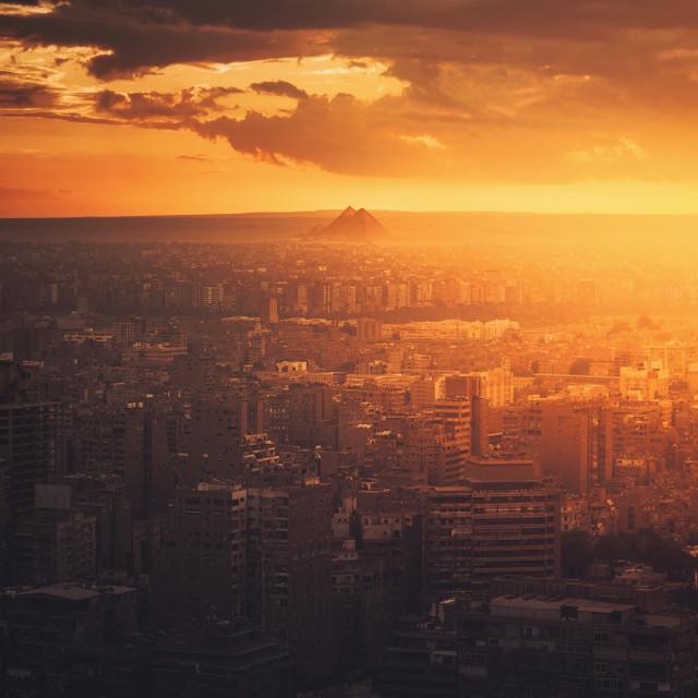 """Fiery Cairo"" stock image"
