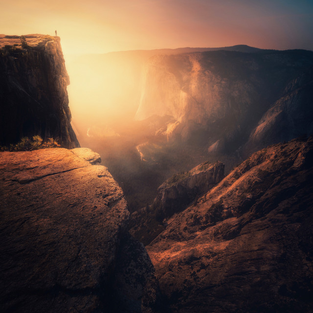 """""""Lonely Sunset"""" stock image"""