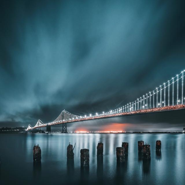 """""""Icy Bay bridge"""" stock image"""