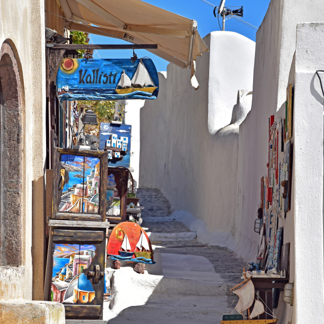 """Souvenir and gift shop in Santorini"" stock image"