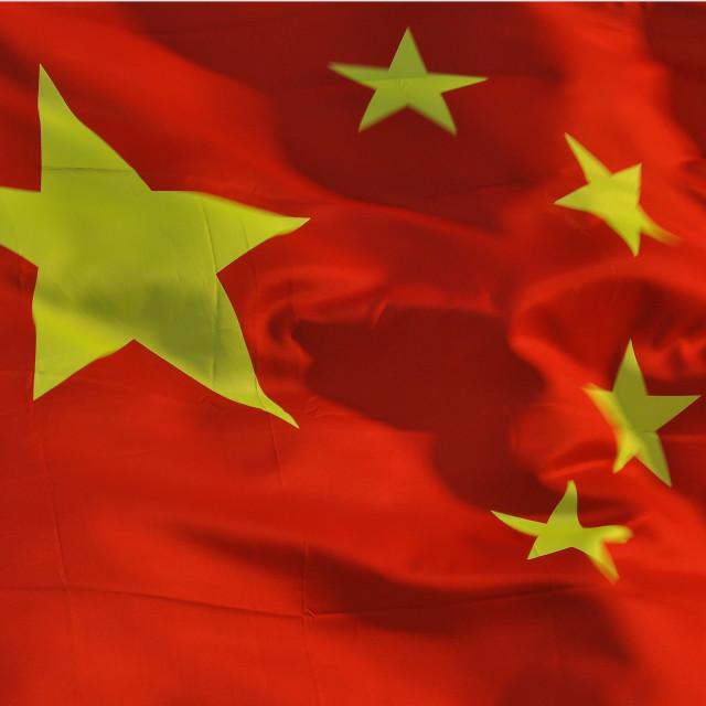 """""""Chinese Flag 9"""" stock image"""