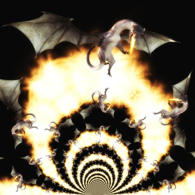 """3d Illustration of a Fantasy Dragon"" stock image"