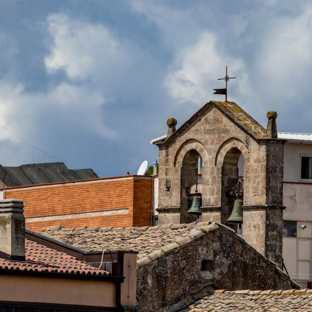 """Church tower in Matera, Basilicata, Italy"" stock image"