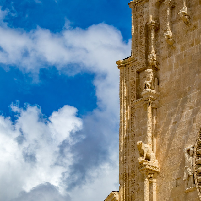 """Church decorations in Matera, Basilicata, Italy"" stock image"