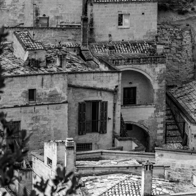 """""""Ancient town of Matera, Basilicata, Southern Italy"""" stock image"""