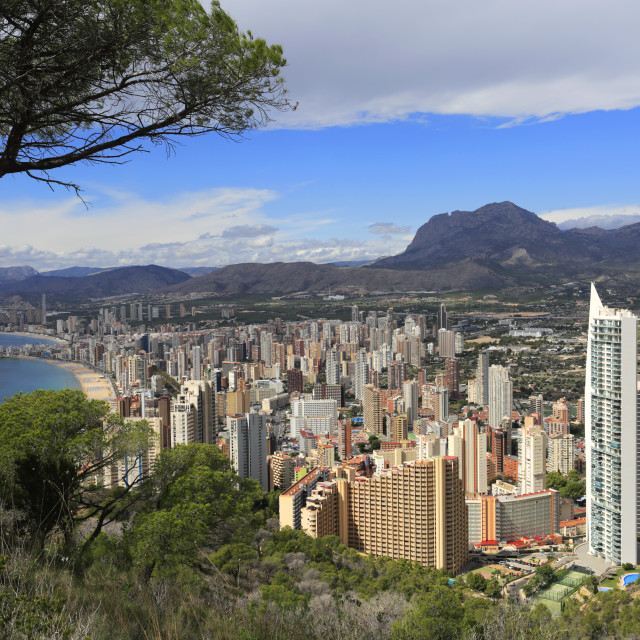 """The Don Jorge holiday apartment block, Benidorm resort, Costa Blanca,..."" stock image"