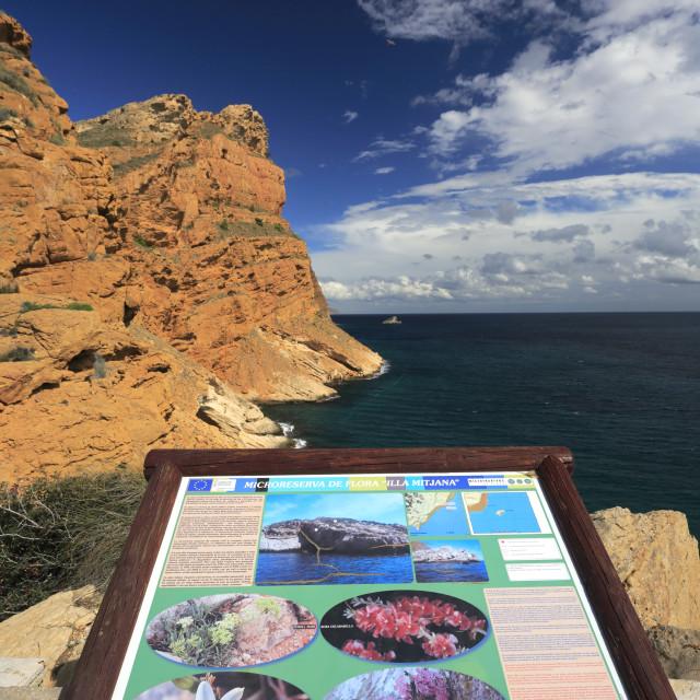 """""""Sea Cliffs of Serra Gelada Natural Park, Benidorm resort, Costa Blanca,..."""" stock image"""