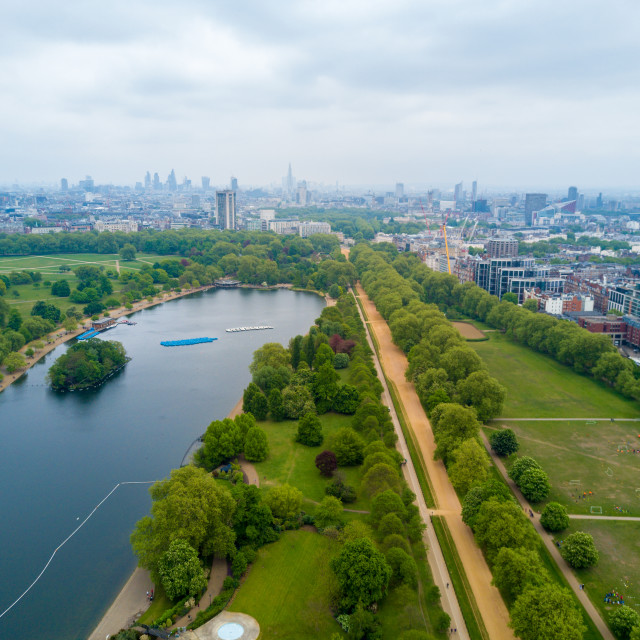 """""""Aerial Hyde park view in London"""" stock image"""