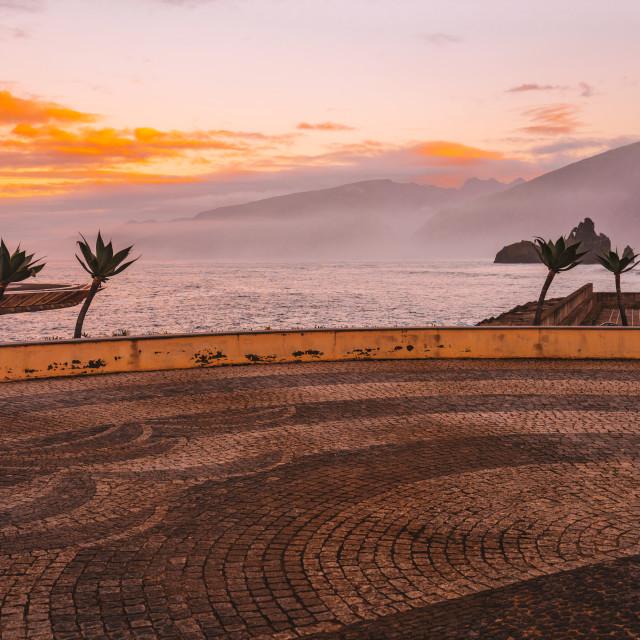 """Porto Moniz is a municipality in Madeira."" stock image"