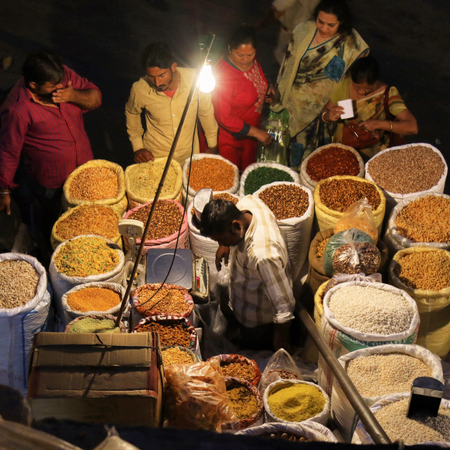 """Night Market"" stock image"