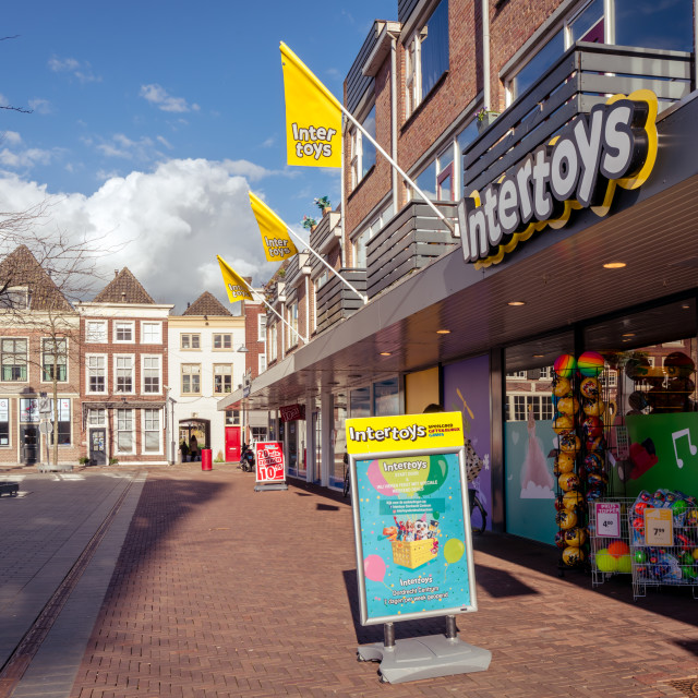"""""""Intertoys shop on the square"""" stock image"""