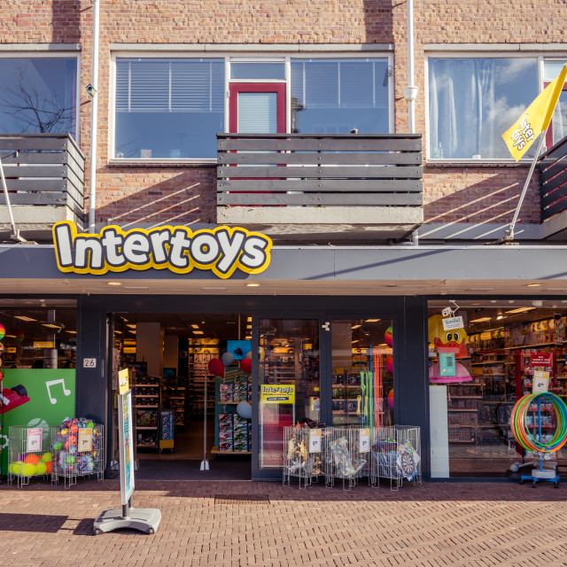 """""""Street view of an Intertoys store"""" stock image"""