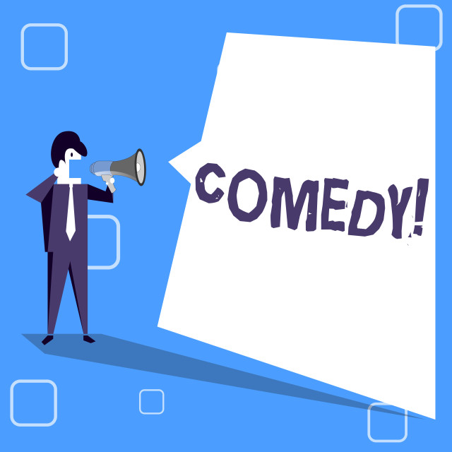 """""""Handwriting text writing Comedy. Concept meaning Fun Humor Satire Sitcom..."""" stock image"""