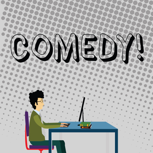 """""""Handwriting text Comedy. Concept meaning Fun Humor Satire Sitcom Hilarity..."""" stock image"""