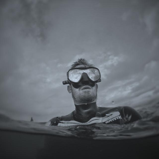 """Snorkeler"" stock image"
