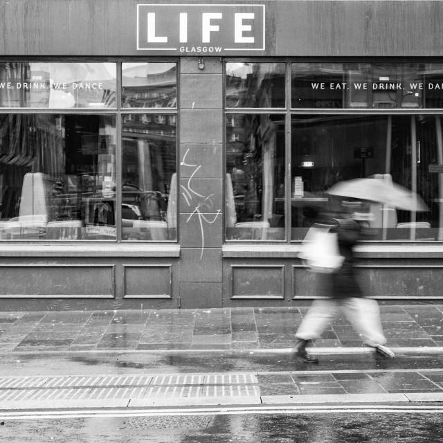 """Life In Monochrome"" stock image"